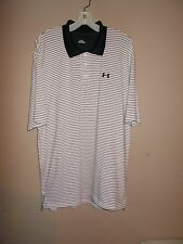 Under Armour Mens Size L Striped Henley Shirt Short Sleeves