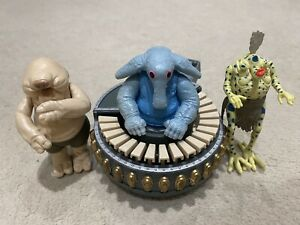 """Vintage 1983 ROTJ Star Wars Max Rebo Band with Keyboard 3.75"""" Figures"""