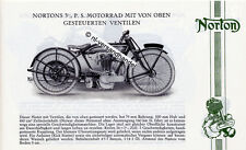 Norton - Motorrad-Programm - Prospekt - 1923 - Deutsch  - nl-Versandhandel