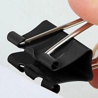 Universal Metal Binder Clips 41mm Schwarz Foldback Büroklammer-Metallclip X 12