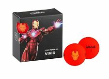 NEW Volvik Vivid Marvel 4pk Iron Man Golf Balls - Red - Drummond Golf