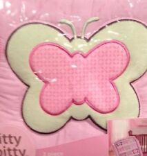 Itty Bitty Butterfliez 3Pc Crib Bedding Set & 4Pc Crib Bumper Butterfly Pink