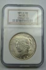 1925-S Slabbed Peace Silver Dollar NGC MS 62 - S2