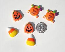 Halloween Trick or Treat Resin Flatbacks hair bow scrapbooking craft glue on