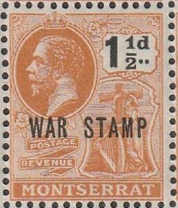 MONTSERRAT 1916 18 early GV WAR STAMP  issue 1 half d MNH Stamp