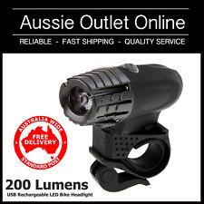 200 Lumens Detachable USB Rechargeable LED Bike Headlight - Aussie Outlet Online