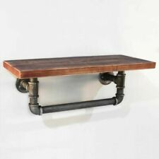 Rustic Industrial Floating Pipe Shelf Rack - PIPE-61-1LVL-RACK