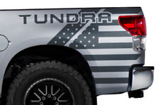 Vinyl Graphics Decal Rear Wrap Kit USA for 2007-2013 Toyota Tundra Truck GRAY