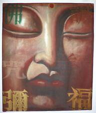 MA TSE LIN encre huile et acrylique sur toile signée datée Art Chinois Buddhas
