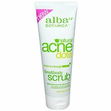 Alba Botanica Acne Dote Face  Body Scrub Oil-Free 8 oz 227 g No Artificial