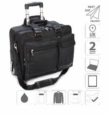 "17"" Laptop Trolley Case Cabin Bag Overnight Business FI2563 + Free iPad Case"