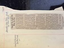 a2m ephemera ww2 news item 1943 fire engine hits tram leicester harrison