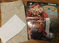 "1995 Country Christmas Santa Rag Doll Kit 17"" Daisy Kingdom Pre-Cut Panel"