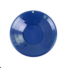 """10"""" BLUE Plastic Gold Pan w/ Shallow & Deep Riffles for Gold Grospecting"""