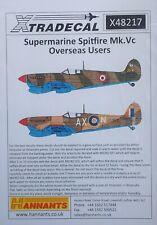 Xtradecal 1/48 X48217 Supermarine Spitfire Vc 'Overseas Users' decal set