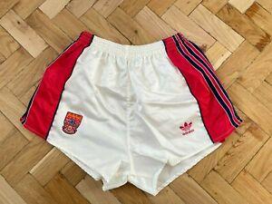 "5+/5 Arsenal London 1990/1991/1992 Home Size 34"" Adidas shorts football soccer"