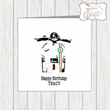 Personalised Scooter Birthday Card Stylised Front Headlamp Lights Vespa Lammy