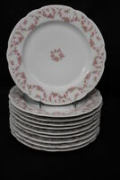 "Set of 10 Vintage Schumann E&R ROSE ARBOR Pink Swag 10.5"" Dinner Plates, Germany"