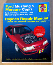Ford Mustang Haynes Manual 1979 - 1993 Fox 1980 81 82 83 84 85 86 87 88 89 90 91
