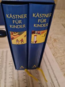 Neu 2 große Bände  Erich Kästner Atrium Kästner für Kinder alle Bücher Klassiker