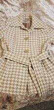 Marks & Spencer's Ladies Jacket, beige & cream dog tooth style Size 16 M&S