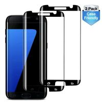 2x Case Friendly Tempered Glass Screen Protector for Samsung Galaxy S7Edge Black