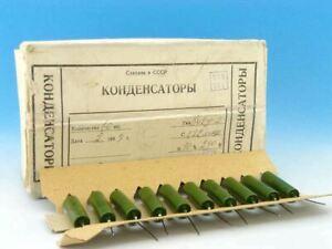 10x USSR 0.22uF 250V 10% Military Paper + Oil Capacitors K42Y-2 220nF PiO 0,22uF
