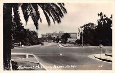 National Millitary Home California~Car on Highway~1930 RPPC~Real Photo Postcard