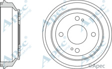 REAR BRAKE DRUM HONDA CIVIC84-01,ballade 86-89,crx 84-86,rover 213,216 84-90