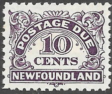 Newfoundland Scott Number J10 VF HR Cat C$10