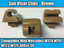 Clips For Mercedes Sun Visor W126 W201 W123 W124 300ce S9 BROWN PLASTIC NEW