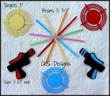 Die Cut LASER TAG Game Gun Target Premade Scrapbook Paper Piecing CKS Designs