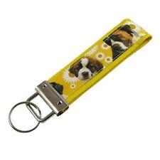 St. Bernard Dog Key Fob / Fabric Key Chain