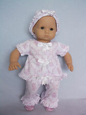 American Girl Pleasant Co. Bitty Baby Doll Ruffles & Bows Clothes Shoes, Blonde