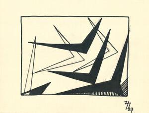 Thilo Maatsch - Komposition - Tusche auf Papier - handsigniert - UNIKAT - 1927