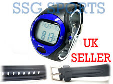 SSG Blue Black Water Resistant Sport Heart Rate Monitor Calorie Counter Watch
