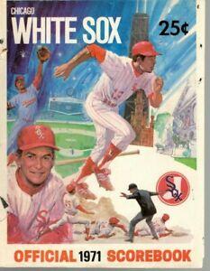 1971 Baseball program Baltimore Orioles @ Chicago White Sox, unscored ~ Poor