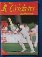 The Cricketer International Magazine - December 1980 - Roland Butcher Cover