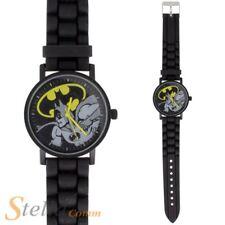 Batman Comics DC oficial Personaje Negro Reloj Muñeca Análoga