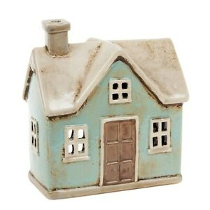 Ceramic Country House Village Pottery Cottage Ornament Tealight Candle Holder