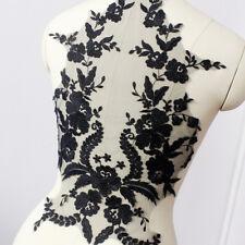 Bridal Lace flower Applique Embroidery Trim Applique for Wedding Dress DIY FL220