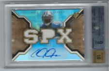 * CALVIN JOHNSON * 2007 SPX GOLD AUTO JERSEY RC # 99 BGS MINT 9