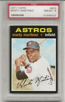 SET BREAK -1971 TOPPS # 602 MARTY MARTINEZ, PSA 8 NM-MT, ASTROS, CENTERED L@@K !