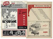 1958 NBA Basketball All Star Game Program