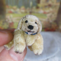 OOAK Dollhouse ARTISAN JOINTED  DOG Miniature Sculpted Artist Made Handmade Pet