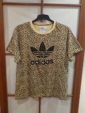 Adidas Originals x Jeremy Scott vintage Designer t-shirt Bear Big té Leopard XL