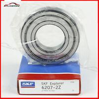 "1 Pcs SKF 6207-2Z ZZ Metal Shields Ball Bearing 1 3/8"" Bore x 2.834"" x 0.669""USA"