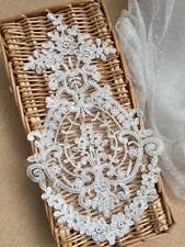Ivory Corded Wedding Lace Applique Sew on Bridal Lace Applique Motif  1PC