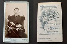 Bonnier, Paris, militaire  Vintage albumen print CDV. Tirage albuminé