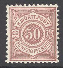 Württemberg Mi. Nr. 58* ungebraucht Befund Winkler BPP 600 Euro